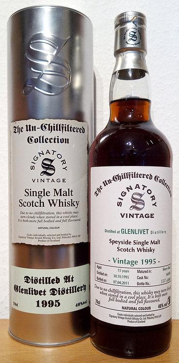 Glenlivet 1995 Signatory Vintage 1st fill Sherry Butt 15 Years old Cask 166938