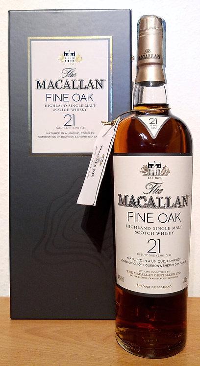 Macallan 21 Years Fine Oak Bourbon & Sherry Cask Single Malt