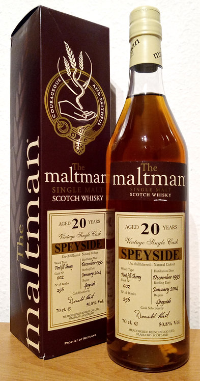 Speyside Distillery 1993 The Maltman 20 Years old 1st Fill Sherry Cask 002