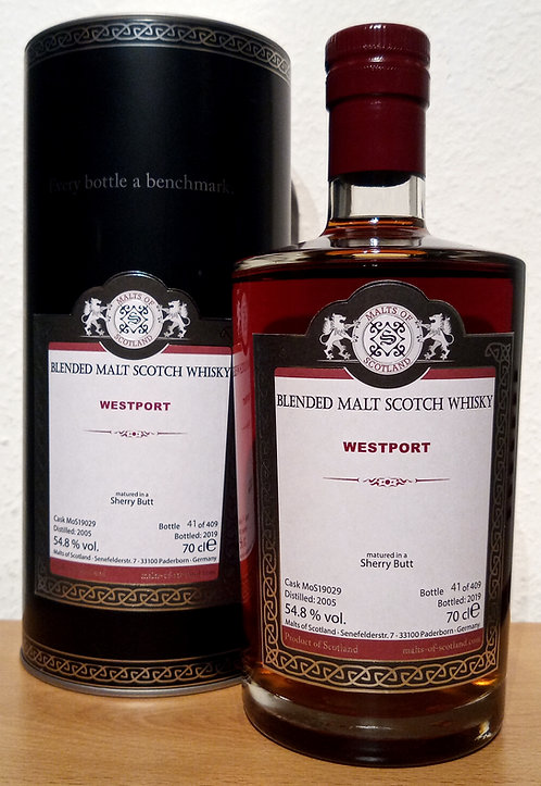 Westport 2005 Malts of Scotland 14 Years old Sherry Butt 19029