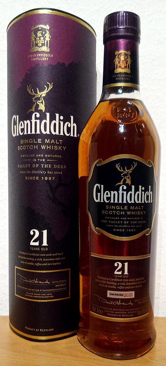 Glenfiddich 21 Years old Bottled 2008 Caribbean Rum Cask Finish