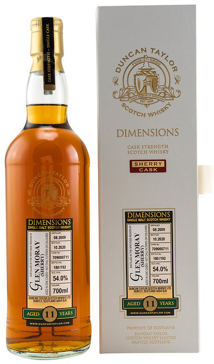 Glen Moray 2009 Duncan Taylor 11 Years old Sherry Cask 709000711