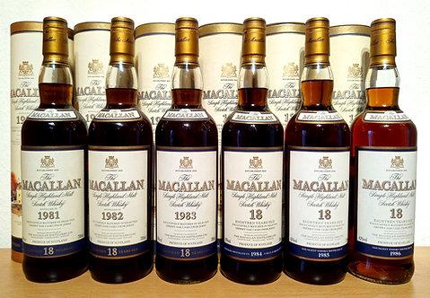 Macallan 18 Years 1981-1986 Single Malt Sherry Oak Casks + Dose