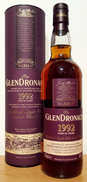 Glendronach 1995 Oloroso Sherry Casks 25 Years old Vintage Bottling