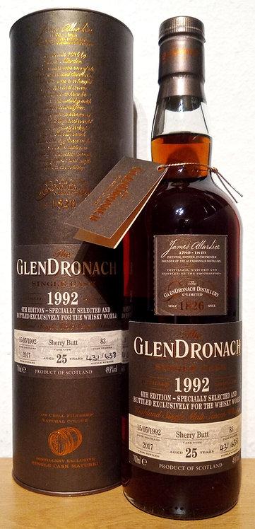 Glendronach 1992 Single Cask 83 Sherry Butt 25 Years old