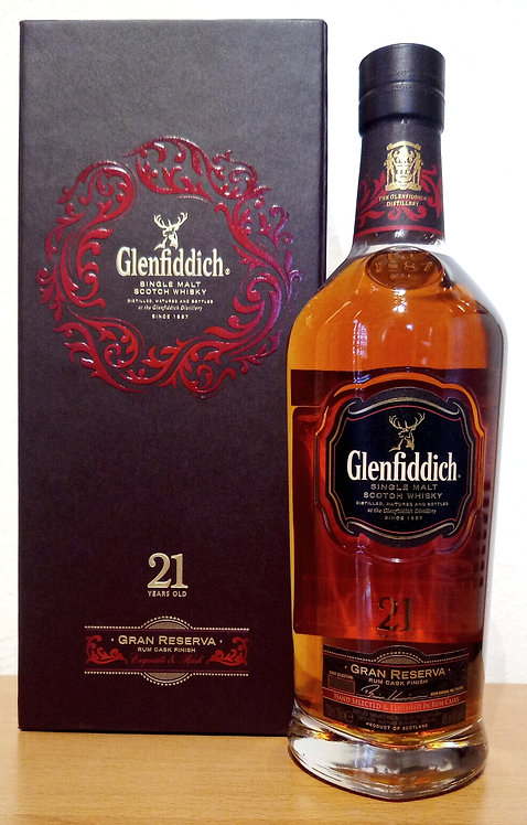 Glenfiddich 21 Years old Gran Reserva Bottled 2014 Rum Cask Finish Batch 33