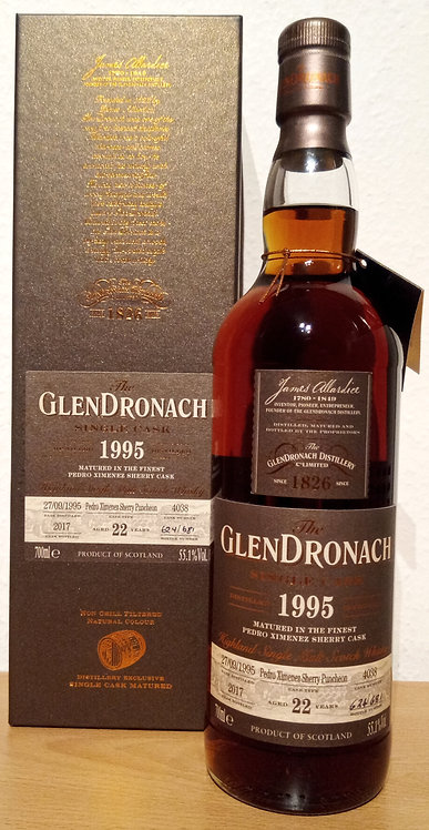 Glendronach 1995 Single Cask 4038 PX Sherry Puncheon 22 Years old