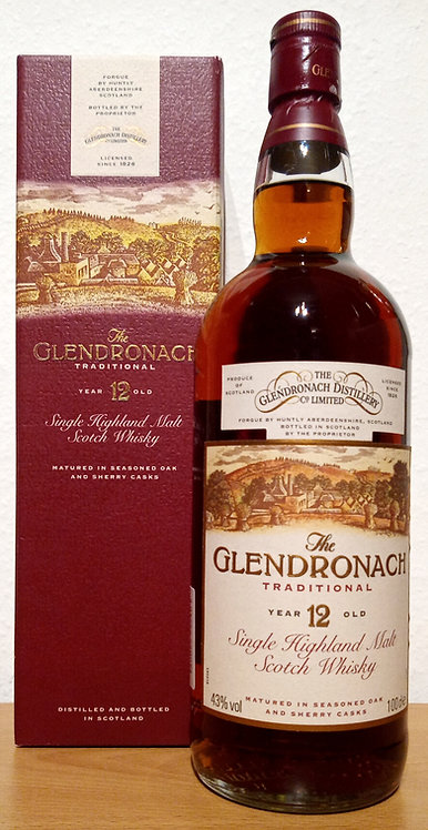 Glendronach Traditional 12 Years old Seasoned Oak and Sherry Casks 1000 ml
