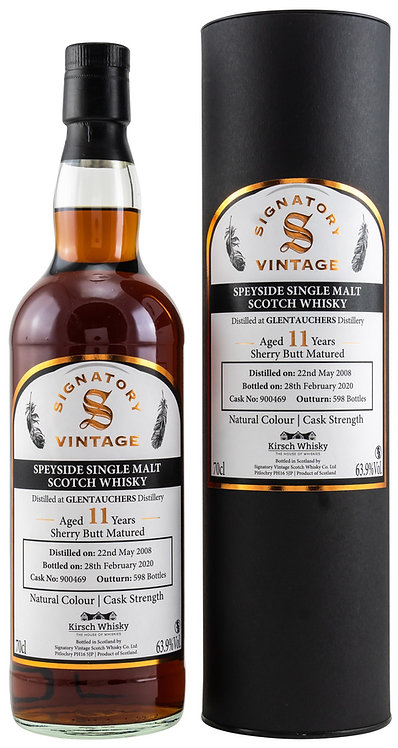 Glentauchers 2008 / 2020 Signatory Vintage Sherry Butt 11 Years old Cask 900469