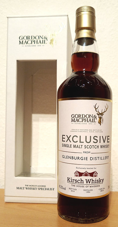 Glenburgie 1994 Gordon & MacPhail 22 Years old 40th Anniversary of Kirsch Whisky