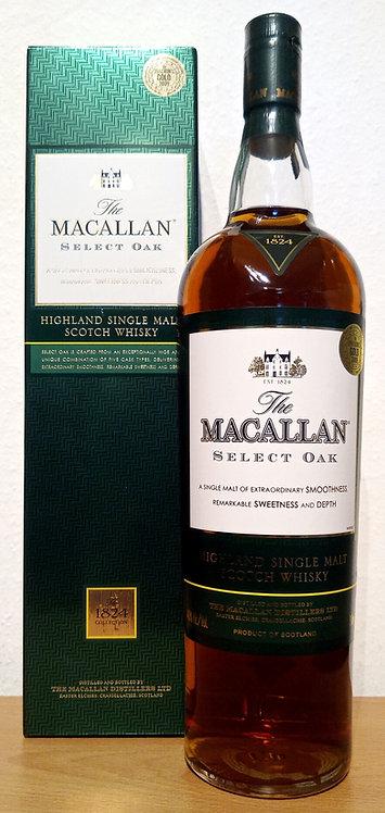 Macallan Select Oak Sherry & Bourbon Casks Bottled 2009 The 1824 Collection