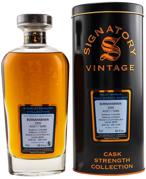 Bunnahabhain 2009 Signatory Vintage 11 Years old Cask 900081 Strength Collection