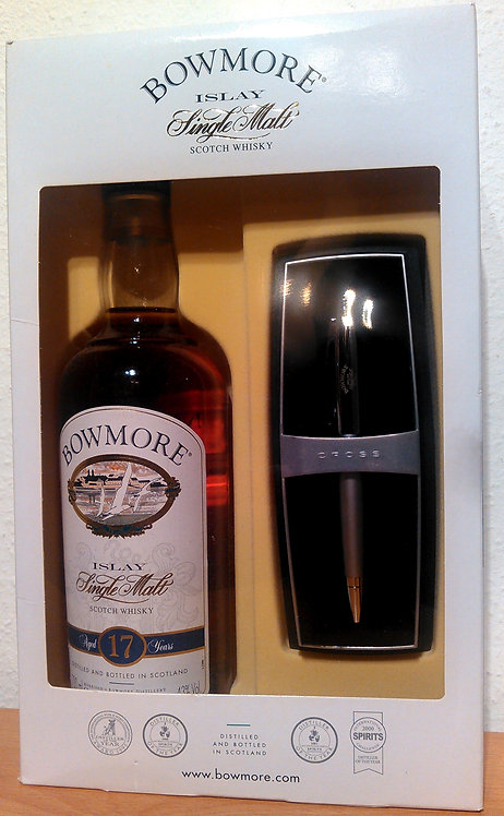 Bowmore 17 Years old Gift Set (inc. Bowmore Pen) old Seagull Label