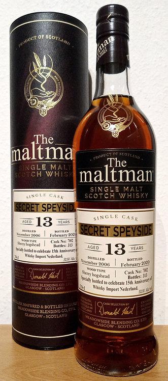 Secret Speyside 2006 The Maltman 13 Years old Sherry Hogshead Cask 7002