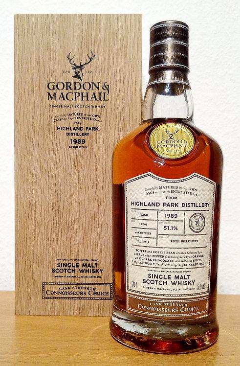 Highland Park 1989 Gordon & MacPhail 30 Years old Connoisseurs Choice