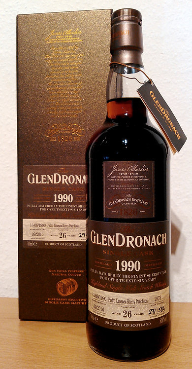 Glendronach 1990 Single Cask 2973 PX Sherry Puncheon 26 Years old