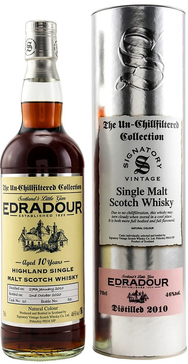 Edradour 2010 Signatory Vintage Sherry Butt 10 Years old Cask 10