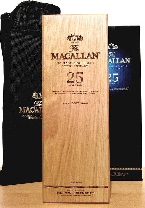 Macallan 25 Years Sherry Oak Cask Release 2018 + Wooden Box