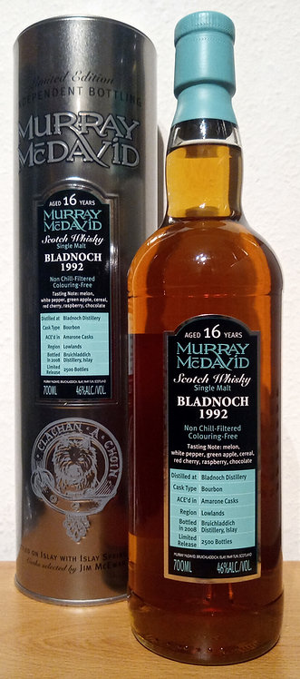 Bladnoch 1992 Murray McDavid 16 Years old Silver Mission