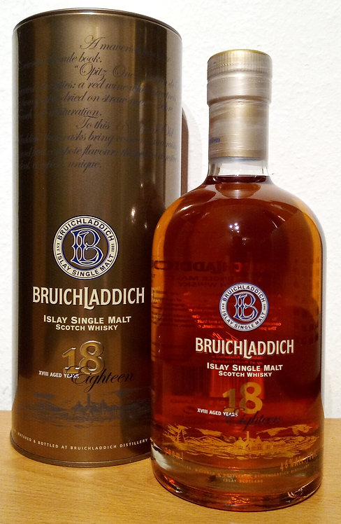 Bruichladdich 18 Years old 1st Edition 2008 Single Malt + Metalldose