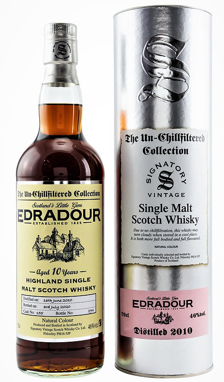 Edradour 2010 Signatory Vintage Sherry Butt 10 Years old Cask 155