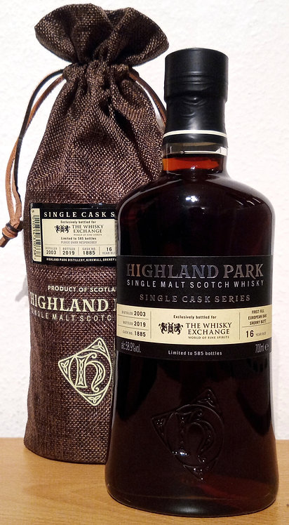 Highland Park 2003 Single Cask Series 16 Years old 1 Fill Sherry Butt 1885