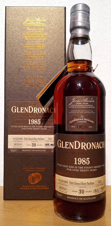 Glendronach 1985 Single Cask 1037 PX Sherry Puncheon 30 Years old