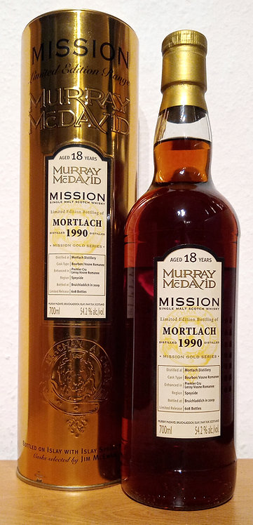 Mortlach 1990 Murray McDavid 18 Years old Mission Gold