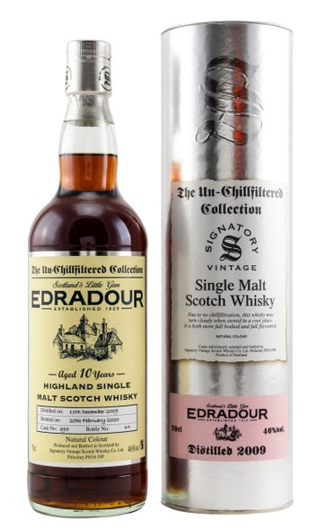 Edradour 2009 Signatory Vintage Sherry Butt 10 Years old Cask 395