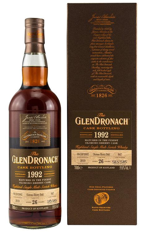 Glendronach 1992 Single Cask 847 Oloroso Sherry Butt 26 Years old