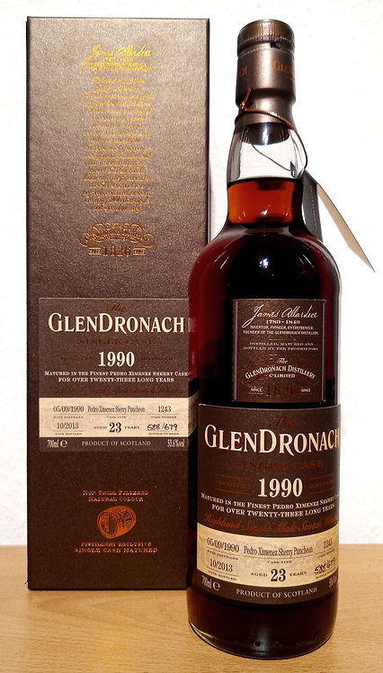 Glendronach 1990 Single Cask 1243 PX Sherry Puncheon 23 Years old