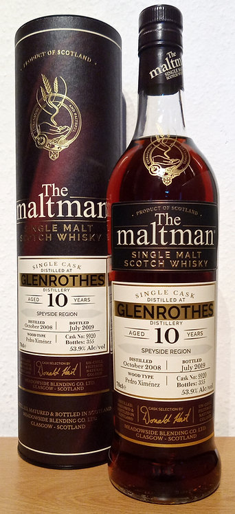 Glenrothes 2008 The Maltman 10 Years old Pedro Ximenez Cask 9920