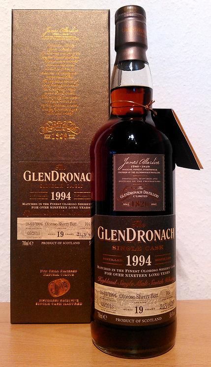 Glendronach 1994 Single Cask 101 Oloroso Sherry Butt 19 Years old