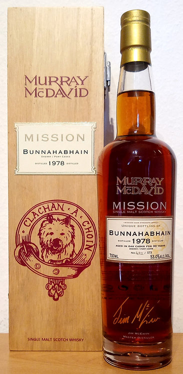 Bunnahabhain 1978 Murray McDavid 30 Years old Mission Cask Strength Series