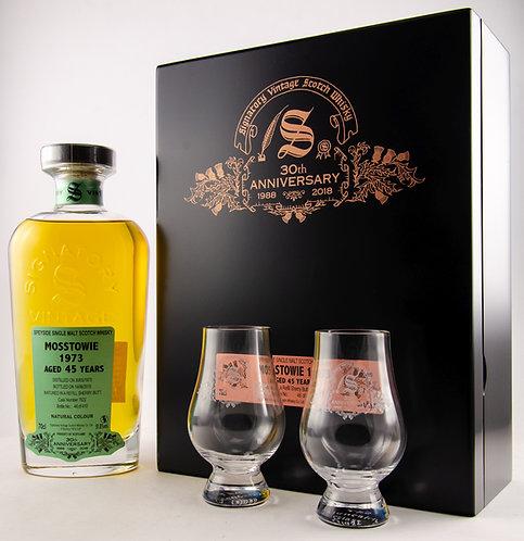 Mosstowie 1973 / 2018 Signatory Vintage 30th Anniversary + 2 Gläser