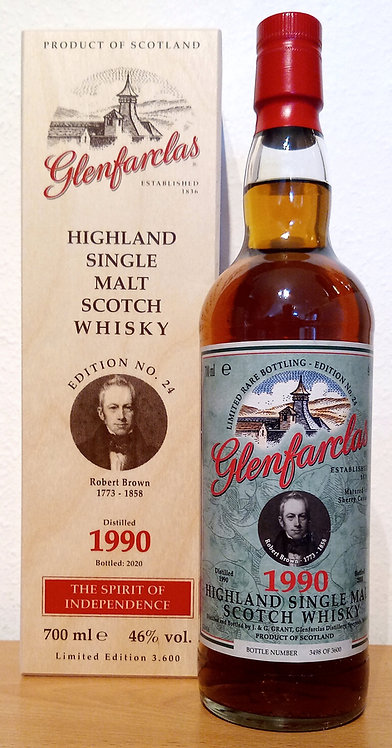 Glenfarclas 1990 Edition No. 24 Robert Brown 30 Years old Sherry Cask