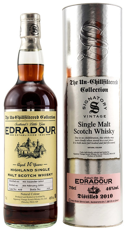 Edradour 2010 Signatory Vintage Sherry Butt 10 Years old Cask 408