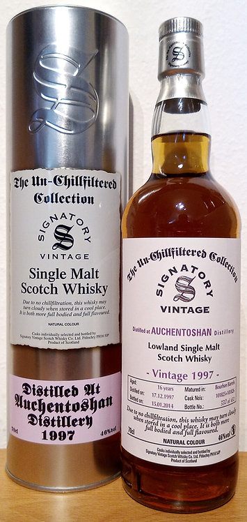 Auchentoshan 1997 Signatory Vintage Bourbon Barrels 16 Years old Cask 101825+26