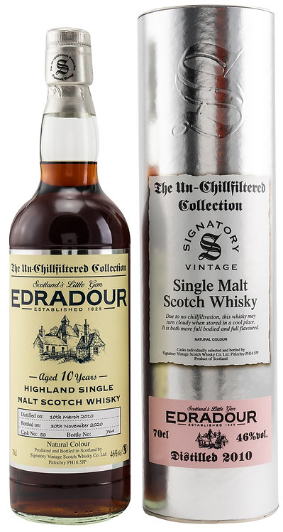Edradour 2010 Signatory Vintage Sherry Butt 10 Years old Cask 50