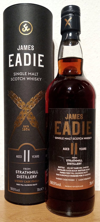 Strathmill 2009 James Eadie 11 Years old 1st Fill Sherry Butt Finish Cask 348030