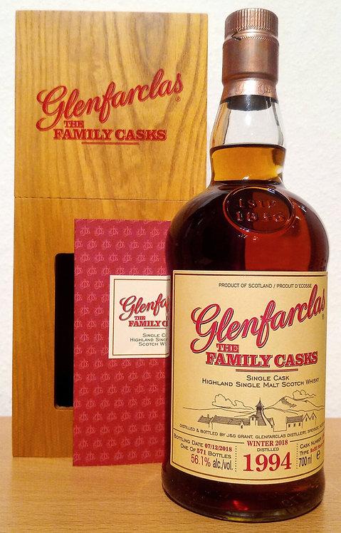 Glenfarclas 1994 The Family Casks 24 Years Refill Sherry Butt 1581