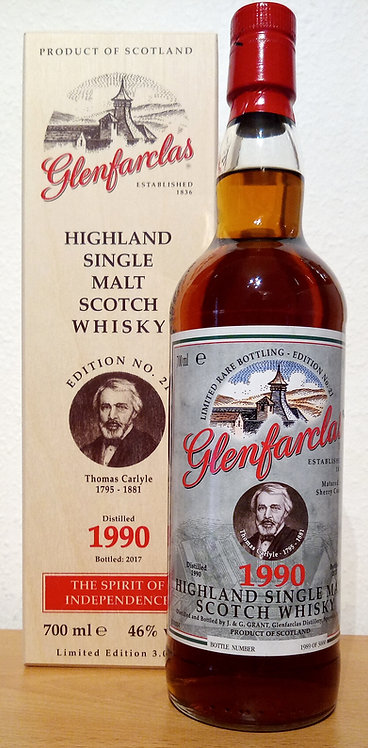 Glenfarclas 1990 Edition No. 21 Thomas Carlyle 27 Years old Sherry Casks