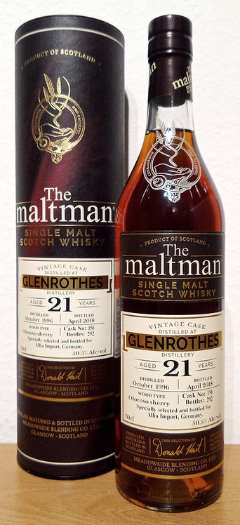Glenrothes 1996 The Maltman 21 Years old Oloroso Sherry Cask 156