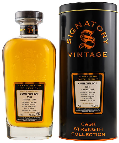 Cameronbridge 1984 Signatory Vintage 36 years old Cask 19308 Strength Collection