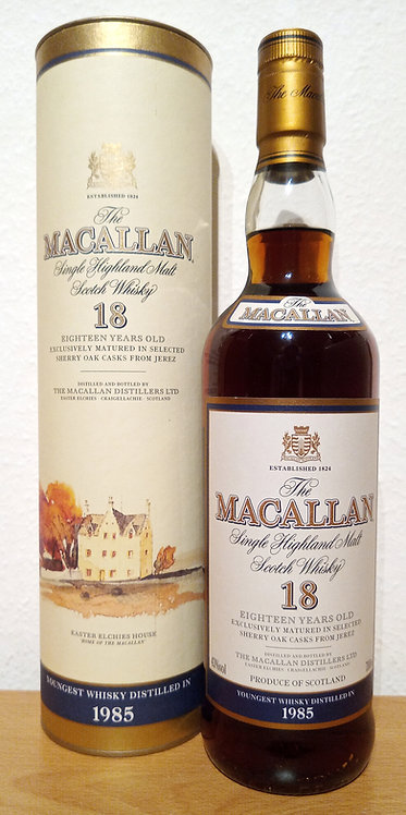 Macallan 18 Years 1985 Single Malt Sherry Oak Casks + Dose