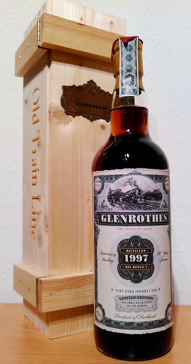 Glenrothes 1997 Jack Wiebers Old Train Line 20 Years old Very Dark Sherry Cask