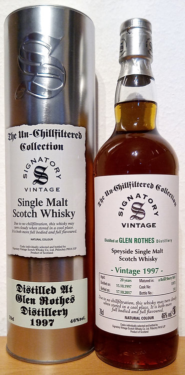 Glenrothes 1997 Signatory Vintage Refill Sherry Butt 20 Years old Cask 15975