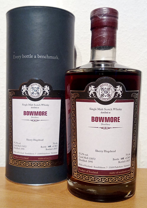 Bowmore 1995 Malts of Scotland 20 Years old Cask 15072