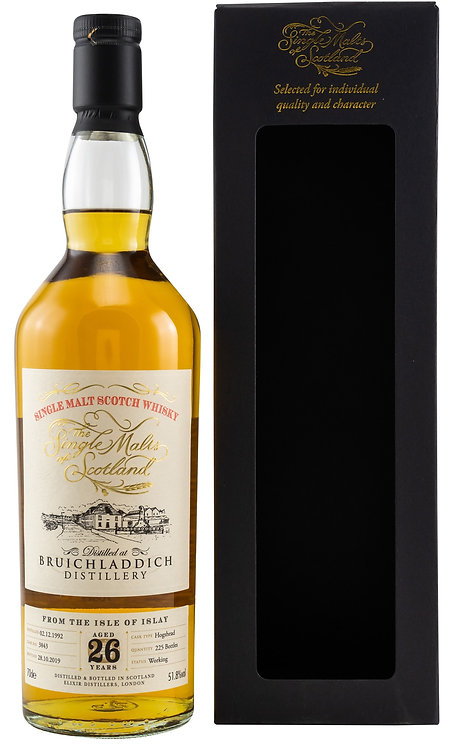 Bruichladdich 1992 Elixir Distillers 26 Years old Hogshead Cask 3843