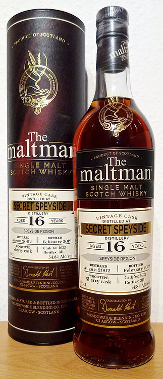 Secret Speyside 2002 The Maltman 16 Years old Sherry Cask 1632